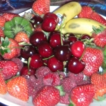 Assiette de fruits rouges